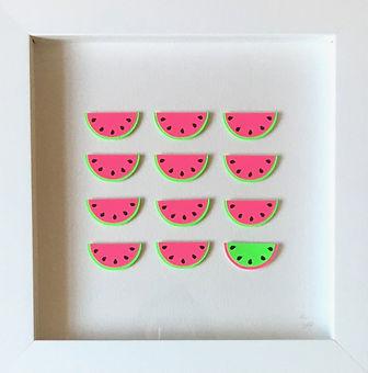 Watermelons papercut art