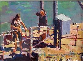 Bert_Evans_Harbour_Wall_Tenby_Acrylic_%2