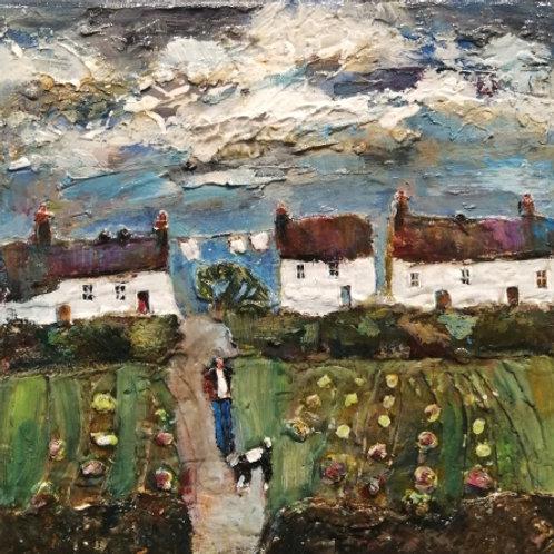 'Cottage Gardens' unframed original on canvas