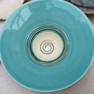 Turquoise Bowl with Lilac
