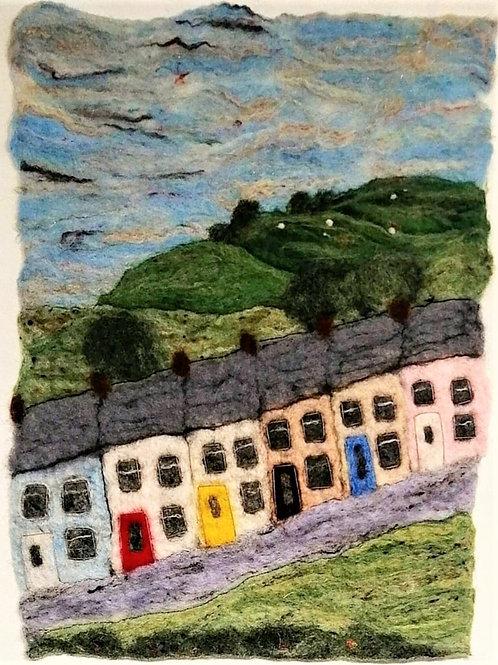'Welsh Valley Houses' felt landscape
