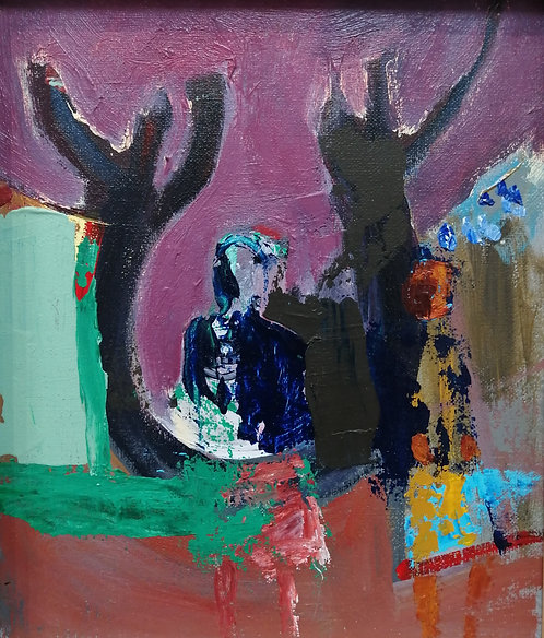'Two women and Two Trees'