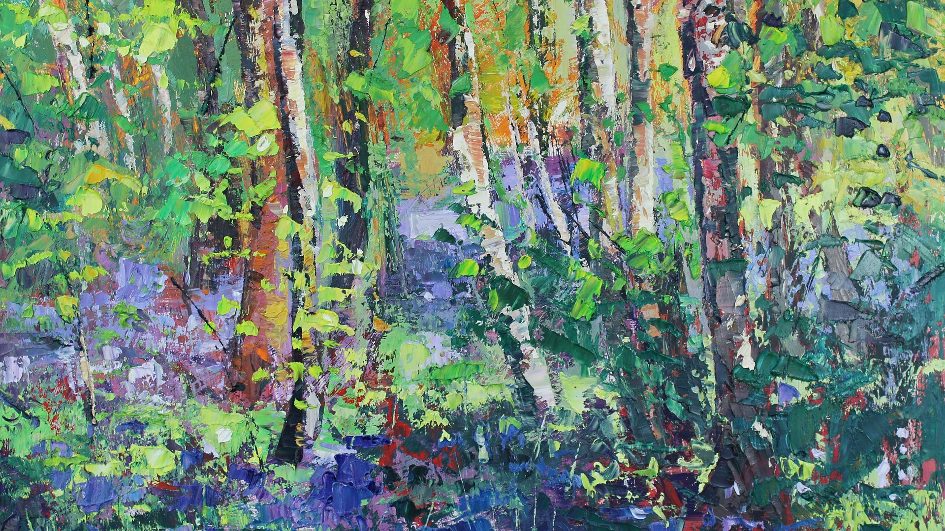 Bluebells and Dancing Leaves