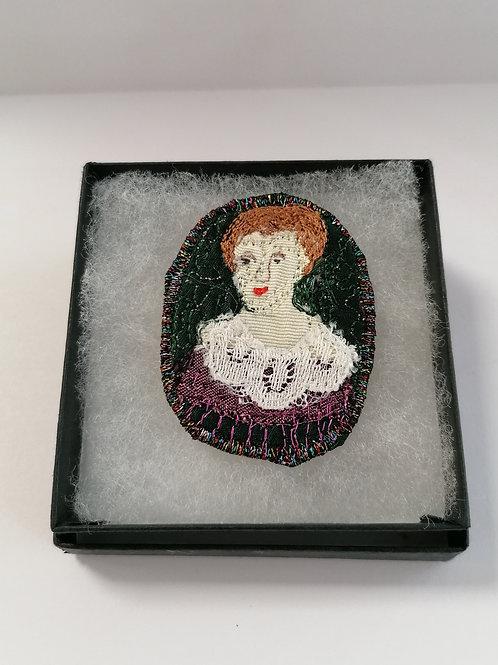 Miniature Portrait Brooch 1