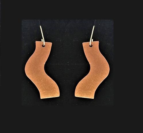 Copper Boomerang Earrings