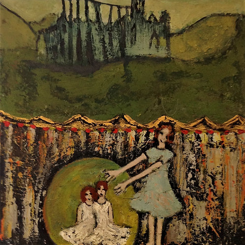 'Stage Fright' Unframed original oil on board