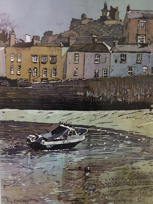 Tenby Harbour' Mounted Reproduction Print