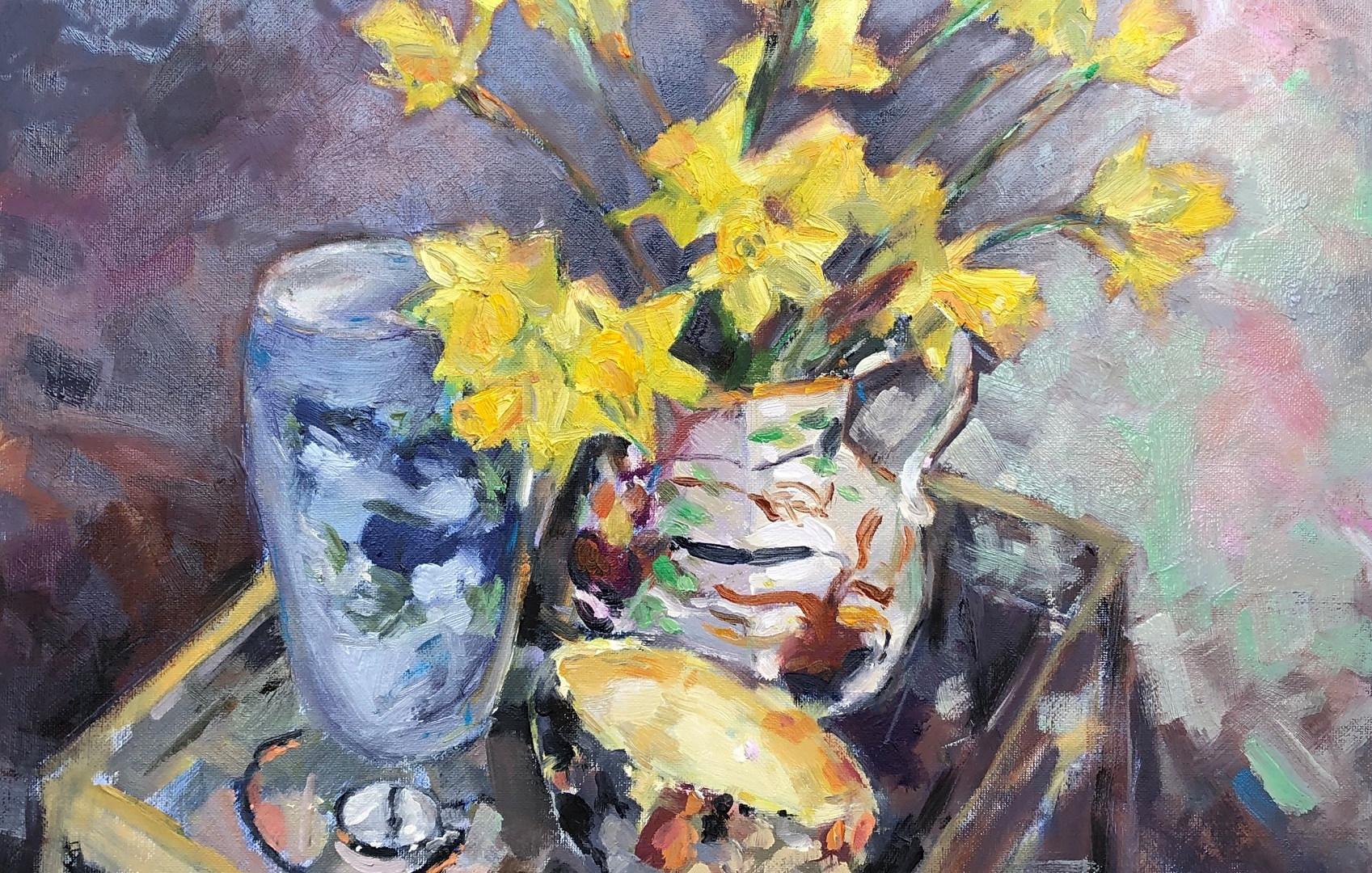 Daffodils, Sylvac Vase
