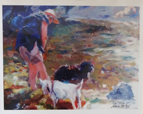'Cooling in the River Gwaun' Print