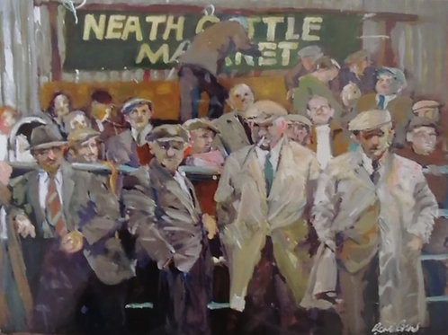 'Neath Cattle Market' Print