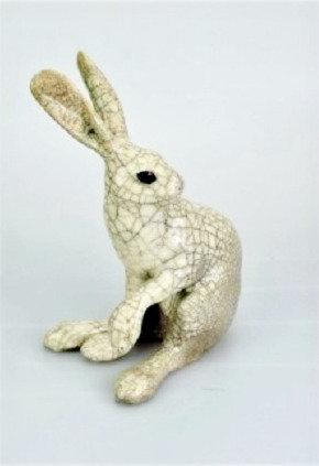 Medium Paw Up Raku Hare