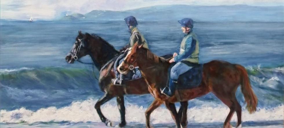 Brenda Evans - Early Morning Riders, Aberavon Beach