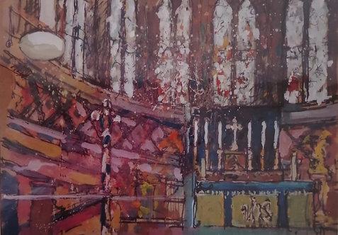 'St. David's Church Interior, Neath' Print