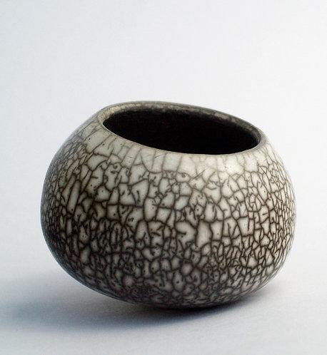Hand built Raku Bowl.
