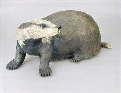 Large Raku Badger