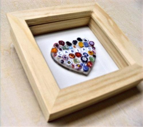 Love Heart Mosaic - Cariad