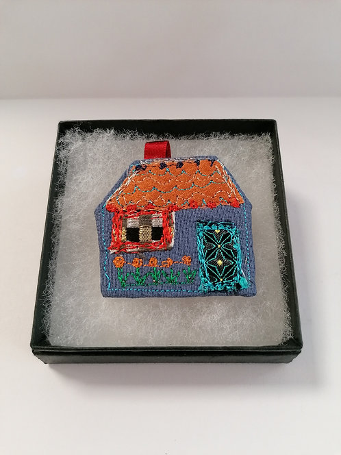 Textile House brooch 2
