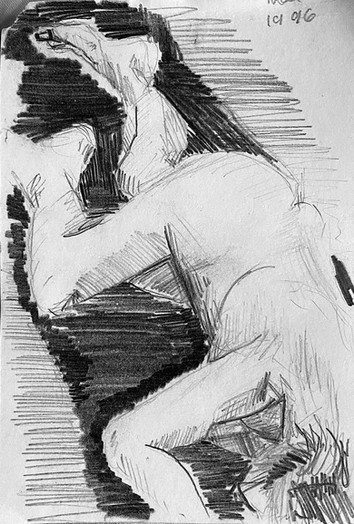 'The drawing that started it all- study   of Tracey Emin'