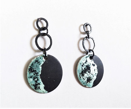 Blue Moon Phases Earrings