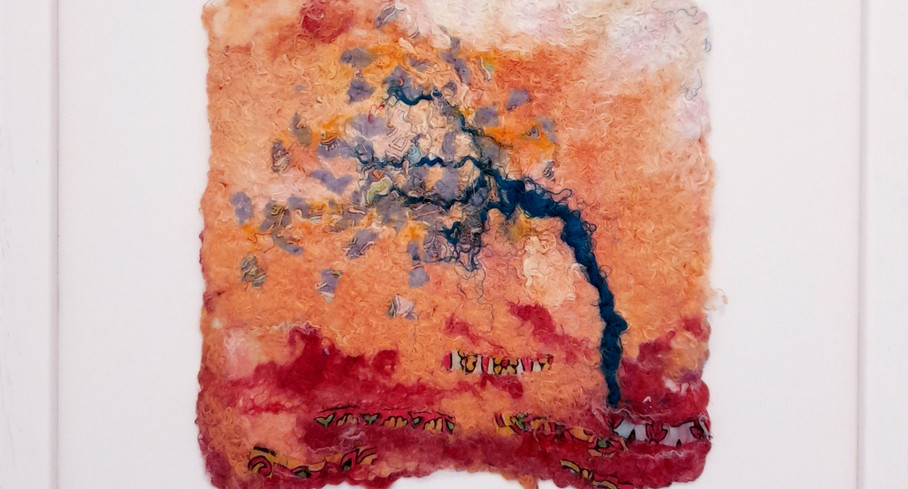 Oriental Silk Tree - framed