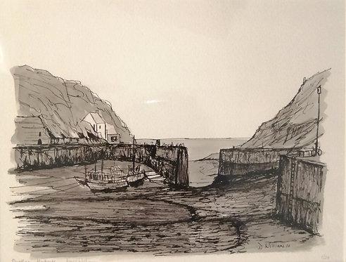 'Porthgain Harbour' Giclée Limited Edition Print