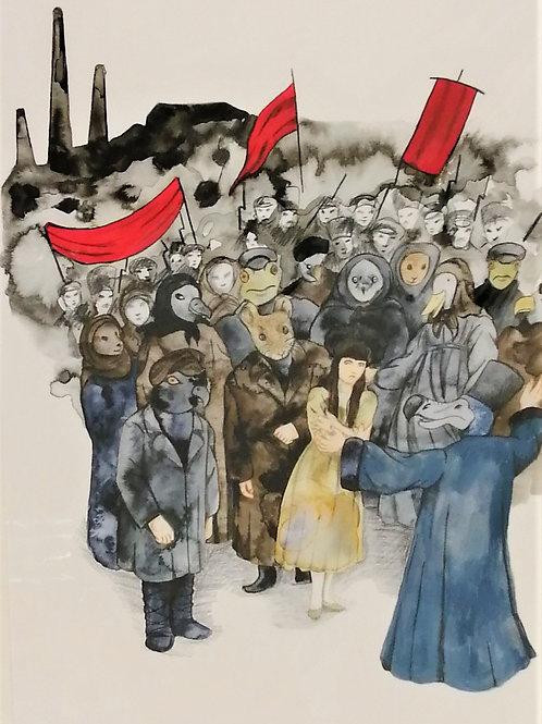 'The Caucus Race, Wonderland' Giclée print