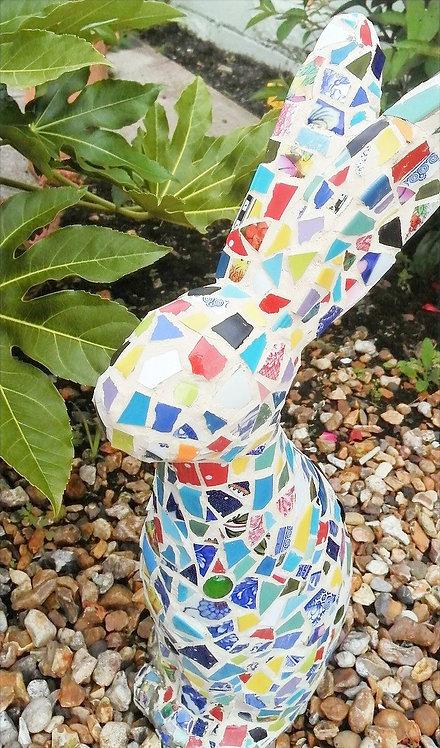 Big Bunny - outdoor mosaic