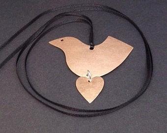 Copper Bird PendantNecklace