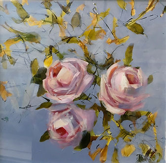 LD Retro Rose 2 acrylic on paper 27x27cm