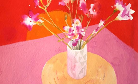 Pink Fressias (version 1 )