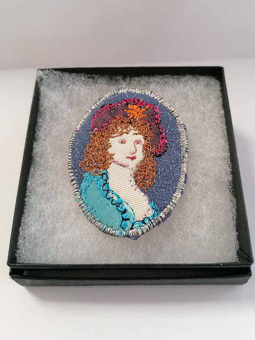 Miniature Portrait Brooch 2