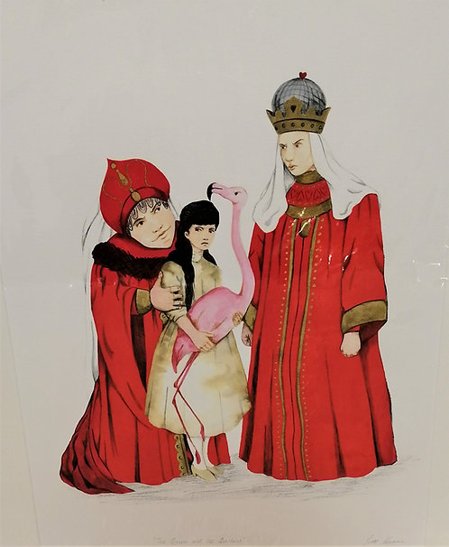 'The Queen and the Duchess Wonderland ' Giclée Print