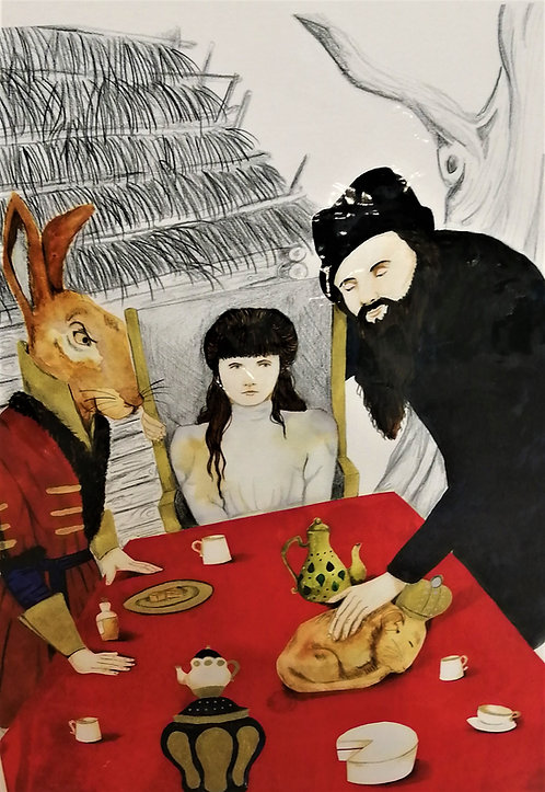 'A Mad Party Wonderland' Giclée Print