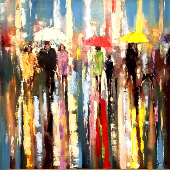 White Umbrellas