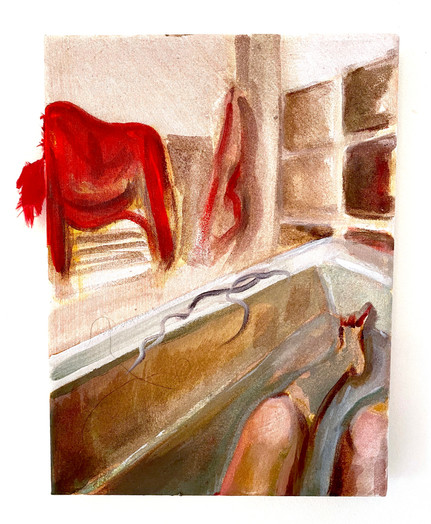 'Bathroom Study With A Dollop Of Hair'