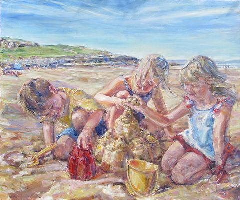 SUMMER DAYS. Acrylic on canvas 66 cms x