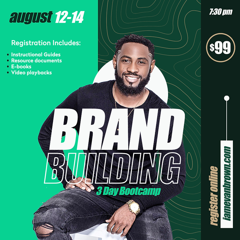 Brand Building 3 Day Bootcamp