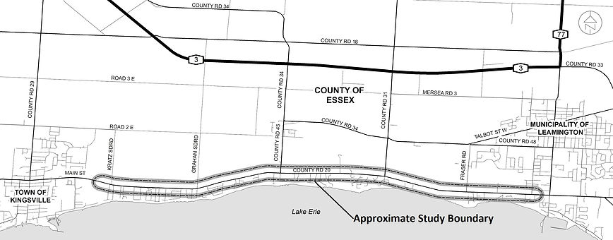 County Road 20 Project Limits Map