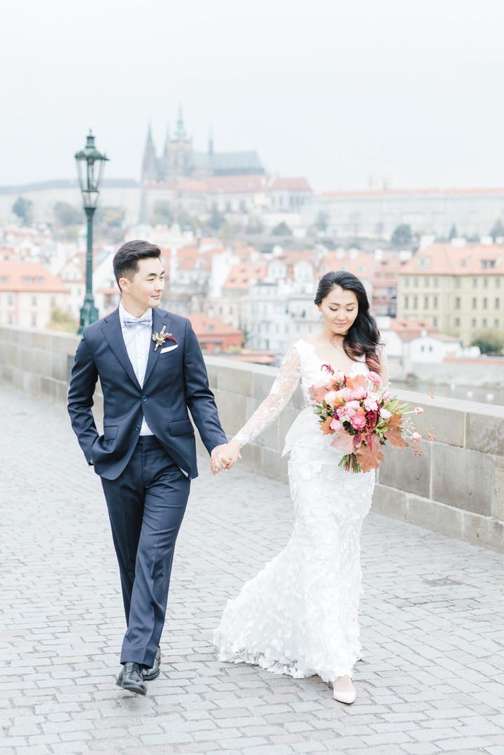 Prague Wedding a fotografie od Kateřiny Končal