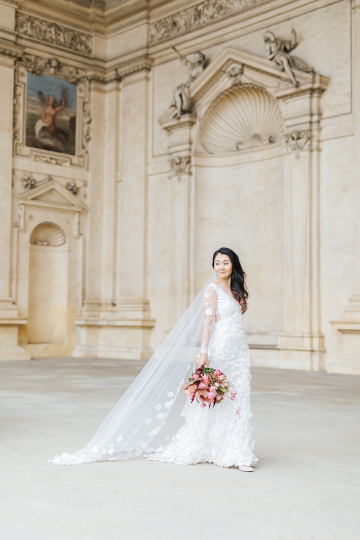 Svatební fotografie nevěsty Agi