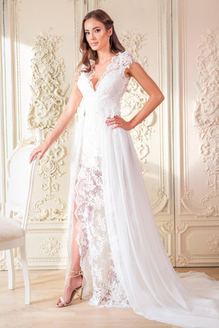 Svatební šaty s odepínatelnou sukní