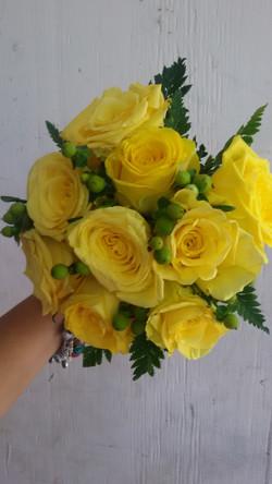 Yellow Roses & Berries