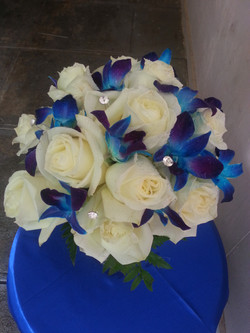 Roses & Blue Orchids