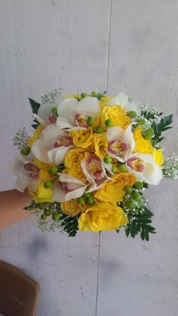 Roses, Cymbidium Orchids & Berries