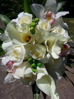 Calla Lilies, Roses & Orchids
