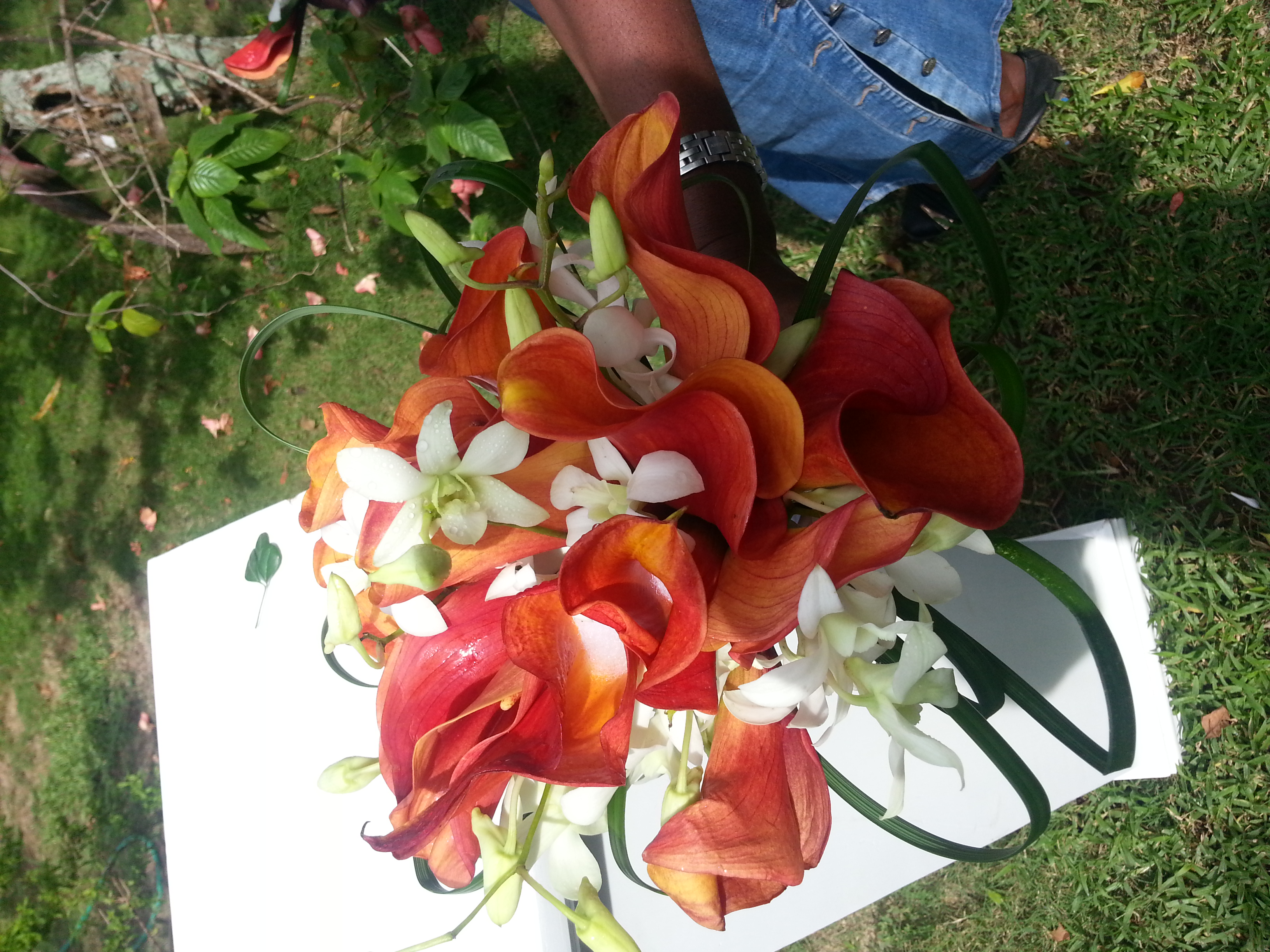Calla Lilies & Orchids