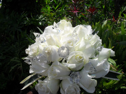 White Roses with Gems
