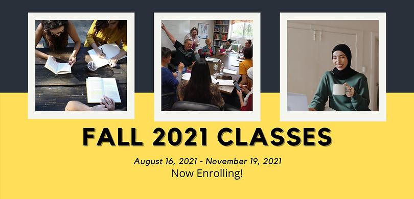 Fall 2021 English Classes in Memphis