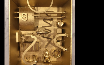 Gold Assemblage in style of Louise Nevelson
