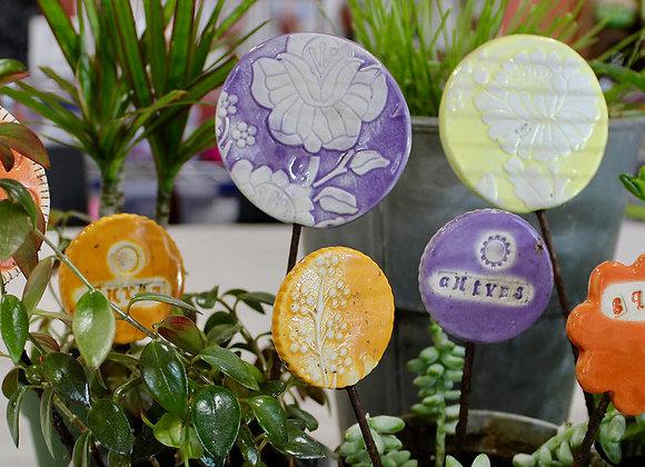 Ceramic Garden Stakes
